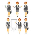 cartoon woman character in various poses business vector image
