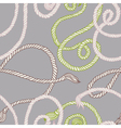 Seamless pattern with ropes vector image vector image