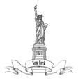 liberty statue new york city usa travel usa symbol vector image