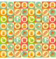 flat food seamless vector image vector image