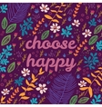 Cartoon floral card vector image vector image
