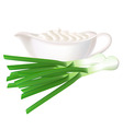 sour cream and green onions vector image vector image