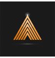 Delta letter logo template vector image