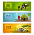 Africa Banners Set vector image