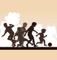 child soccer talent vector image