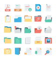 Files and Folders Icons 3 vector image