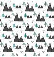 hand drawn owl and forest pattern vector image