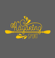 kayaking background with lettering vector image