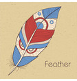 retro feathers vector image