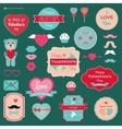Valentines Day Badges Icons Set vector image