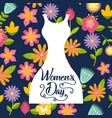 womens day card flowers vector image