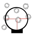 Purpose in optical sight vector image