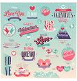 valentine emblems1 vector image