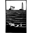 Oil and Farm vector image