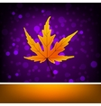 Card with autumn maple leaf template EPS 8 vector image vector image