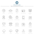 Set of Thin Line SEO and Development icons Set 3 vector image vector image