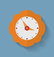 Icon of orange clock Flat style vector image
