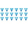 Set 18 sport BLUE triangular map pointer vector image