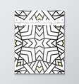 Book with white mandala Realistic brochure gray vector image