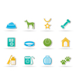 dog accessory and symbols icons vector image