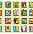 pop art food pattern vector image