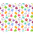 seamless pattern with precious gems in flat style vector image