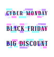 set of banners for black friday cyber monday vector image