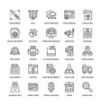 web design icons 5 vector image