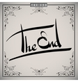 The end greetings hand lettering set vector image vector image