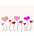 Hand-drawn love hearts vector image vector image