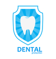 tooth protection logo vector image vector image