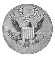 Great Seal of the United States of North America vector image vector image