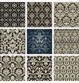 Baroque Floral Pattern Set vector image