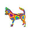 rainbow dog 9 vector image