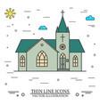 thin line icon church vector image
