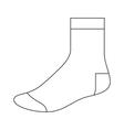Sock template vector image