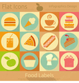 Food Labels in Retro Style vector image