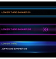 Lower third banners vector image