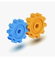 Blue and orange gears vector image