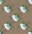 Nice pastel floral seamless pattern vector image