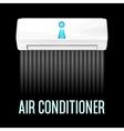 White color air conditioner machine vector image