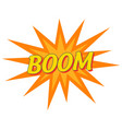boom pop art banner wording sound effect vector image