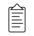 checklist line icon clipboard symbol vector image