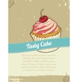 Food Banner with Cake for advertising vector image