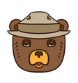 Forest Protection Bear Day vector image