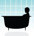 girl in bathtub vector image