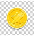 Golden coin with star icon for game vector image