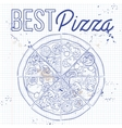 pizza on a notebook page vector image