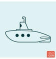 Submarine icon isolated vector image