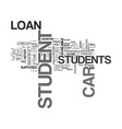 What you should know about student car loan text vector image